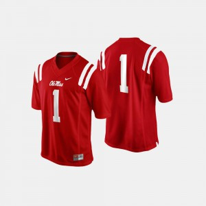 Cardinal Ole Miss Rebels #1 Football College Jersey For Men's