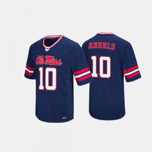 For Men's Hail Mary II University of Mississippi Navy College Jersey #10