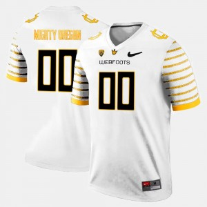 Mens White Oregon Duck #00 College Customized Jersey Limited Football