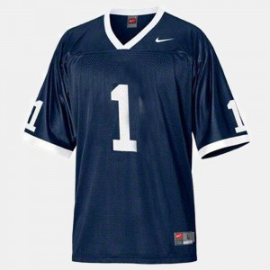 Football Nittany Lions Blue #1 For Men College Jersey