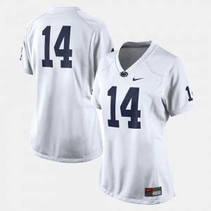 #14 White Football College Jersey Penn State For Women's