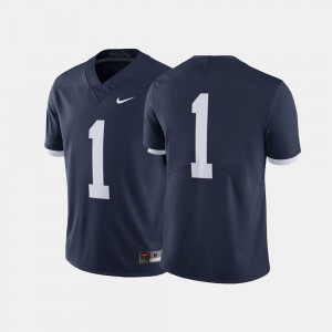 College Jersey #1 Throwback Navy Penn State Nittany Lions Men's