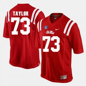 #73 Red Alumni Football Game Rod Taylor College Jersey Mens Ole Miss Rebels