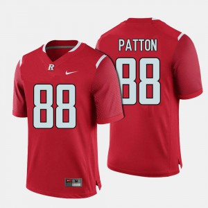 Men's Rutgers Scarlet Knights Football Andre Patton College Jersey #88 Red