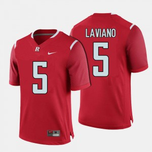 #5 Red Scarlet Knights Chris Laviano College Jersey Men Football
