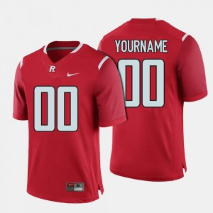 Scarlet Knights For Men #00 Football Red College Customized Jerseys