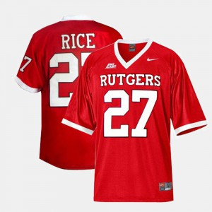 Ray Rice College Jersey #27 Football Men's Rutgers University Red