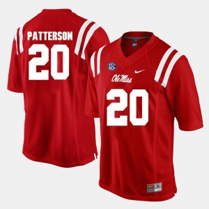 Red Shea Patterson College Jersey #20 Rebels For Men's Alumni Football Game