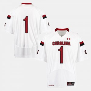 South Carolina #1 College Jersey For Men's White Football