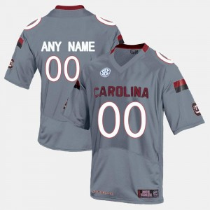 College Customized Jersey #00 Mens Gamecock Limited Football Grey