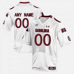 College Customized Jersey Limited Football #00 White South Carolina For Men