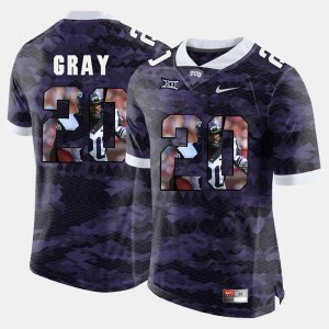#20 Purple For Men High-School Pride Pictorial Limited TCU Horned Frogs Deante Gray College Jersey