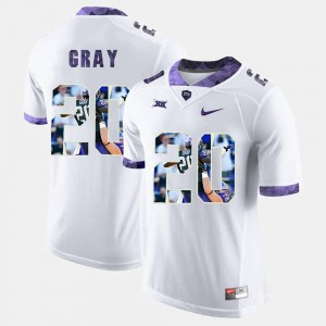 #20 Texas Christian Deante Gray College Jersey High-School Pride Pictorial Limited White Men's