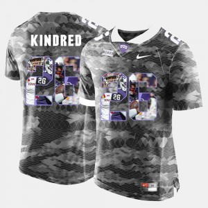 Grey Texas Christian High-School Pride Pictorial Limited Men Derrick Kindred College Jersey #26