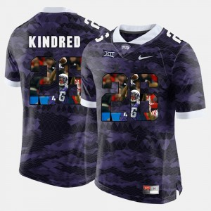 High-School Pride Pictorial Limited Derrick Kindred College Jersey Purple For Men's #26 TCU Horned Frogs