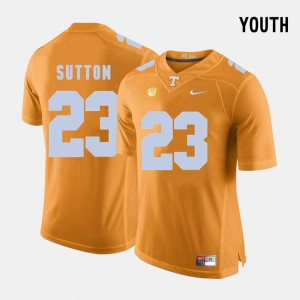 #23 Football Orange Cameron Sutton College Jersey For Kids Tennessee Vols