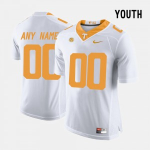 Limited Football #00 Youth College Customized Jersey White UT VOL