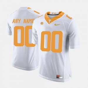 University Of Tennessee Limited Football White Mens #00 College Custom Jerseys