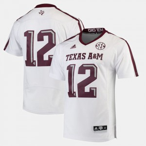 White 2017 Special Games Texas A&M University #12 For Men's College Jersey