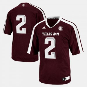 Football Texas A&M Aggies For Men's #2 College Jersey Maroon