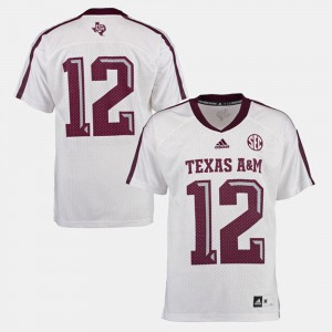 White College Jersey Texas A&M University Mens Football #12
