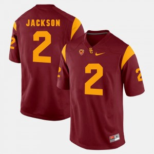 Red #2 Pac-12 Game Trojans For Men's Adoree' Jackson College Jersey