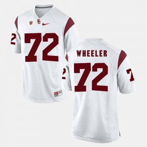 Pac-12 Game #72 White Mens Chad Wheeler College Jersey Trojans