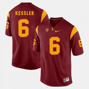 For Men's Pac-12 Game #6 Cody Kessler College Jersey Red USC Trojans