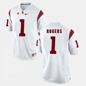 Pac-12 Game USC #1 Darreus Rogers College Jersey For Men's White