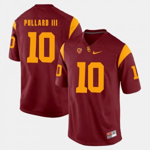 #10 Trojans Pac-12 Game Hayes Pullard III College Jersey For Men's Red