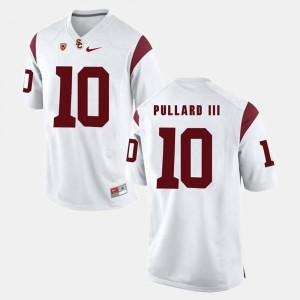 White Hayes Pullard III College Jersey Trojans For Men's Pac-12 Game #10