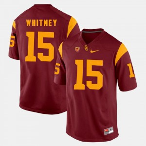 Isaac Whitney College Jersey Mens USC Trojan #15 Red Pac-12 Game