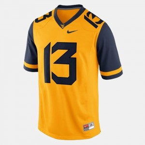 #13 Andrew Buie College Jersey West Virginia Mens Football Gold