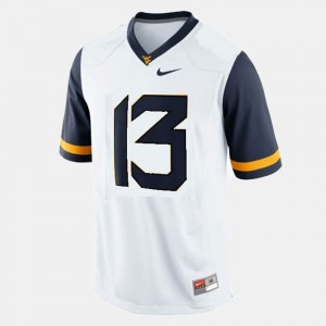 West Virginia Mountaineers Football #13 White Andrew Buie College Jersey Mens