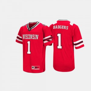 Badgers Hail Mary II College Jersey For Men's #1 Red
