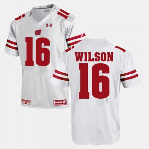 Russell Wilson College Jersey #16 For Men Badger White Alumni Football Game