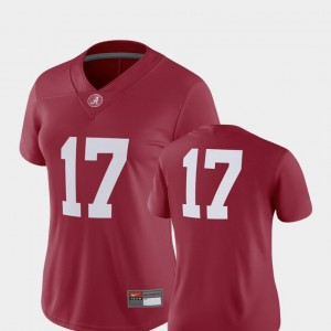 Crimson 2018 Game Football Alabama Roll Tide #17 For Women's College Jersey