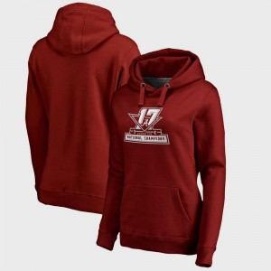 For Women's Football Playoff 2017 National Champions Official Bowl Game College Hoodie Crimson Alabama