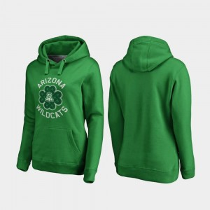 Ladies Luck Tradition Kelly Green Wildcats College Hoodie St. Patrick's Day