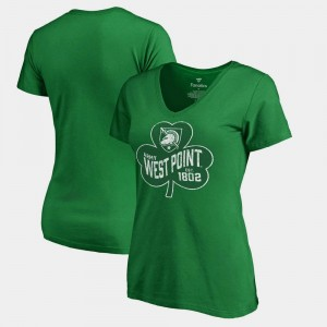 College T-Shirt Paddy's Pride Fanatics West Point Women St. Patrick's Day Kelly Green
