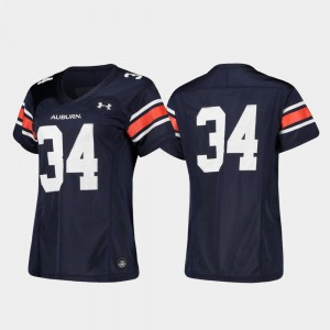 Replica Football College Jersey Tigers #34 For Women Navy