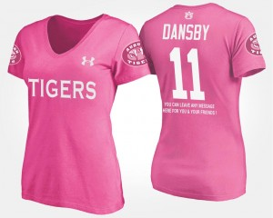 Pink Ladies Karlos Dansby College T-Shirt #11 AU With Message