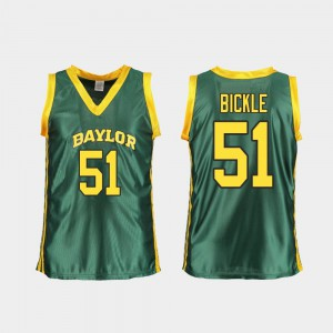 Caitlyn Bickle College Jersey #51 Replica BU For Women's Green Basketball