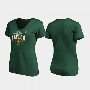 Green For Women's Tackle V-Neck College T-Shirt Bears 2020 Sugar Bowl Bound