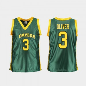 #3 Bears Womens Trinity Oliver College Jersey Replica Basketball Green