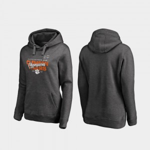 Womens College Hoodie Heather Gray Clemson Tigers 2019 Fiesta Bowl Champions Football Playoff Curl