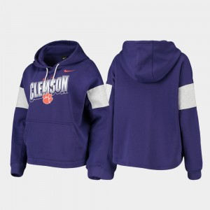 Pullover Local For Women College Hoodie Purple Clemson