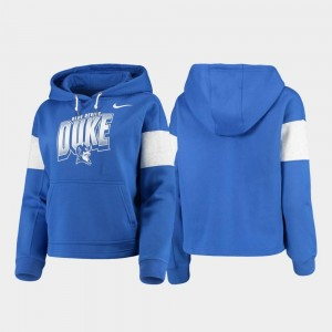 Local Royal College Hoodie Women Blue Devils Pullover
