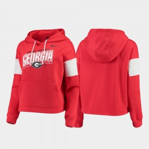 GA Bulldogs College Hoodie Pullover Red Womens Local