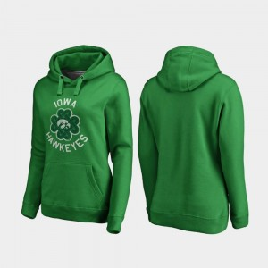 College Hoodie Luck Tradition Kelly Green Women St. Patrick's Day Iowa Hawkeyes